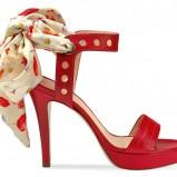 czerwone sandały Geox - wiosna/lato 2012