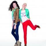 czerwone spodnie cache cache rurki - trendy wiosna-lato