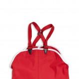 czerwone spodnie KappAhl z szelkami - wiosna-lato 2012