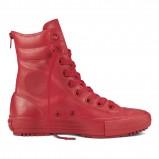czerwone trampki Converse wysokiee