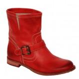 czerwone wysokie buty Venezia z klamrą - kolekcja wiosenno/letnia