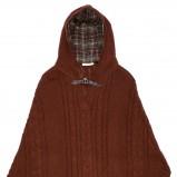 czerwony płaszcz C&A z kapturem - jesień/zima 2011/2012