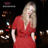 czerwony płaszczyk Reserved - wiosna/lato 2012