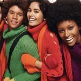 czerwony sweter Benetton - jesień/zima
