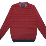 czerwony sweter Carry w paski - jesień/zima 2011/2012