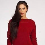 czerwony sweter Heppin obszerny