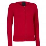 czerwony sweter InWear rozpinany - kolekcja zimowa
