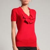 czerwony sweter Orsay z kokardą - jesień/zima 2011/2012