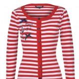 czerwony sweter Top Secret w paski - wiosna/lato 2012