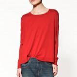 czerwony sweter ZARA - jesień/zima 2011/2012