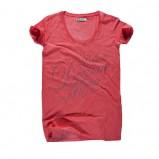 czerwony t-shirt Big Star z napisami - moda 2011