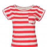 czerwony t-shirt Camaieu w paski - z kolekcji wiosna-lato 2012