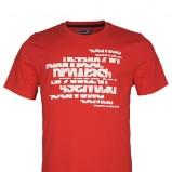 czerwony t-shirt Drywash z nadrukiem - wiosna/lato 2012