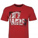 czerwony t-shirt Drywash z napisami - jesień 2012