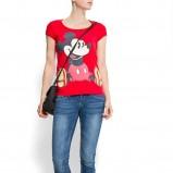czerwony t-shirt Mango z nadrukiem - wiosna-lato 2012