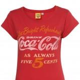 czerwony t-shirt Topshop z napisami - wiosna/lato 2011