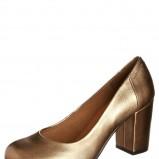 czółenka Vagabond na słupku w kolorze złotym - najmodniejsze złote buty