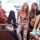 damskie trampki Pepe Jeans w kolorze seledynowym - wiosna 2013
