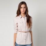 długa koszula Bershka w kolorze beżowym - kolekcja damska