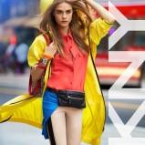 długa kurtka DKNY w kolorze żółtym - Cara Delevingne