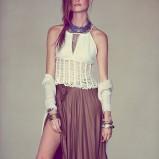 długa spódnica Free People w kolorze brązowym - lato 2013