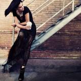 długa spódnica Stradivarius w kolorze czarnym - świąteczna kolekcja