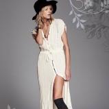 długa sukienka Free People w kolorze beżowym - moda 2013