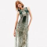 długa sukienka H&M w kolorze zielonym - moda na wiosnę i lato 2013