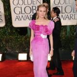 długa sukienka w kolorze różowym - Diane Kruger