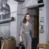 długa suknia Natalia Jaroszewska w kolorze szarym