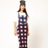 długa suknia - ogrodniczka Asos - wzory 2012/2013