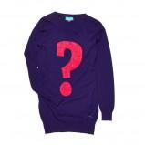 długi sweter Cropp w kolorze granatowym - moda na jesień 2013