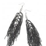 długie kolczyki Troll w kolorze czarnym - jesień-zima 2012/2013
