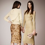dopasowana sukienka Burberry - moda 2014
