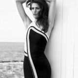 dopasowana sukienka ESCADA w kolorze czarno-białym - moda 2013