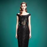 dopasowana sukienka Gucci w kolorze czarnym - trendy 2013/14
