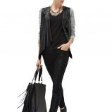 dopasowane spodnie Reserved w kolorze czarnym - jesień 2013