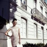 duża kopertówka Caterina w kolorze białym