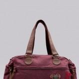 duża torba Bershka w kolorze bordowym - torebki na jesień i zimę