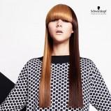 Dwukolorowa fryzura z grzwka - włosy długie