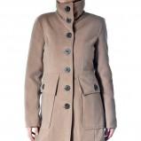 dwurzędowy płaszcz Grey Wolf w kolorze beżowym - moda na jesień i zimę