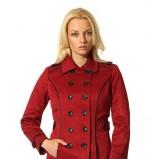 dwurzędowy płaszcz Orsay w kolorze bordowym - jesień i zima 2013/14