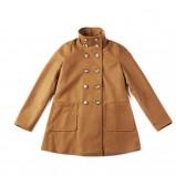 dwurzędowy płaszcz Springfield w kolorze brązowym -  kolekcja jesień - zima 2012/2013