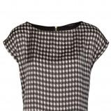 Dziewczęca czarna bluzka Mohito w pepitkę jesienno-zimowa 2012/13
