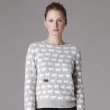 Dziewczęcy szary sweter Oysho we wzory HIT 2012/2013