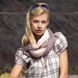 ecru bluzka Greenpoint w kratkę - moda 2011