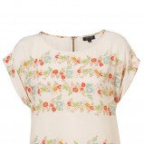 ecru bluzka Topshop w kwiaty - wiosna-lato 2011