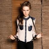 ecru koszula Bershka - moda zimowa