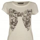 ecru koszulka Top Secret z kokardą - zima 2011/2012
