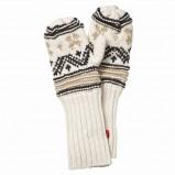 ecru rękawiczki Jackpot we wzorki - z kolekcji jesień-zima
